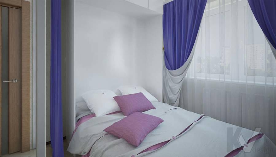 Дизайн спальни в 2-комнатной квартире - 1