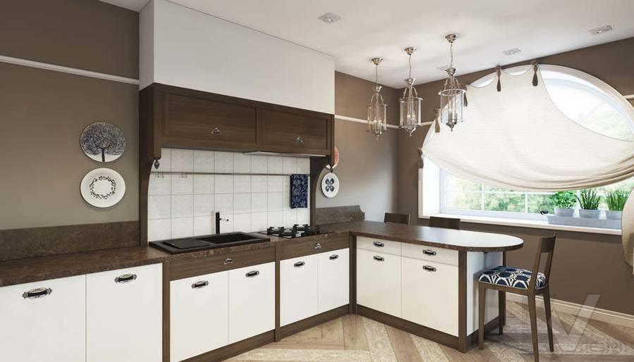 Дизайн кухни в коттедже, КП «Vita Verde» - 2