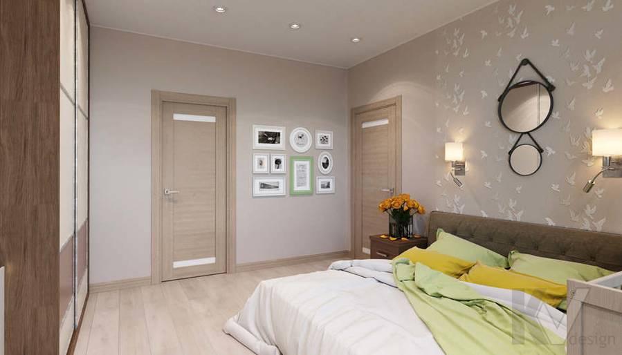 дизайн спальни в 3-комнатной квартире, Митино - 3