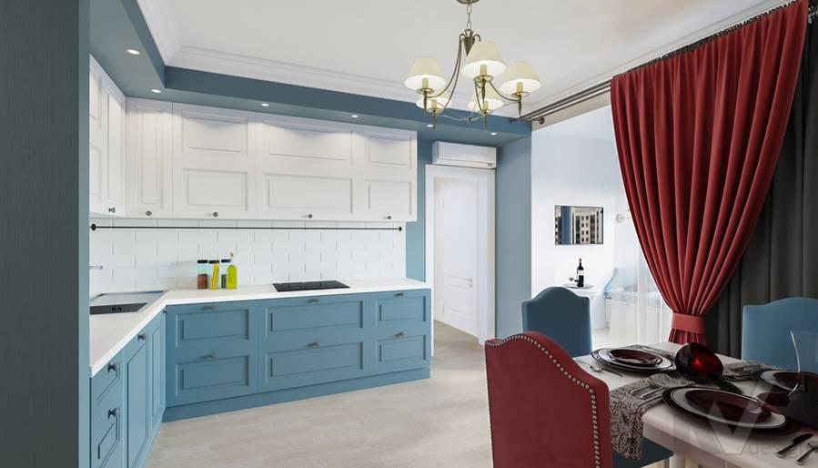Дизайн кухни-столовой в квартире П-44Т, Переделкино Ближнее - 3