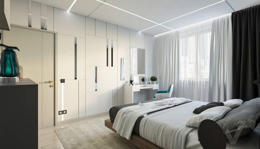 Спальня в 3-комнатной квартире П-44Т, Медведково - 1