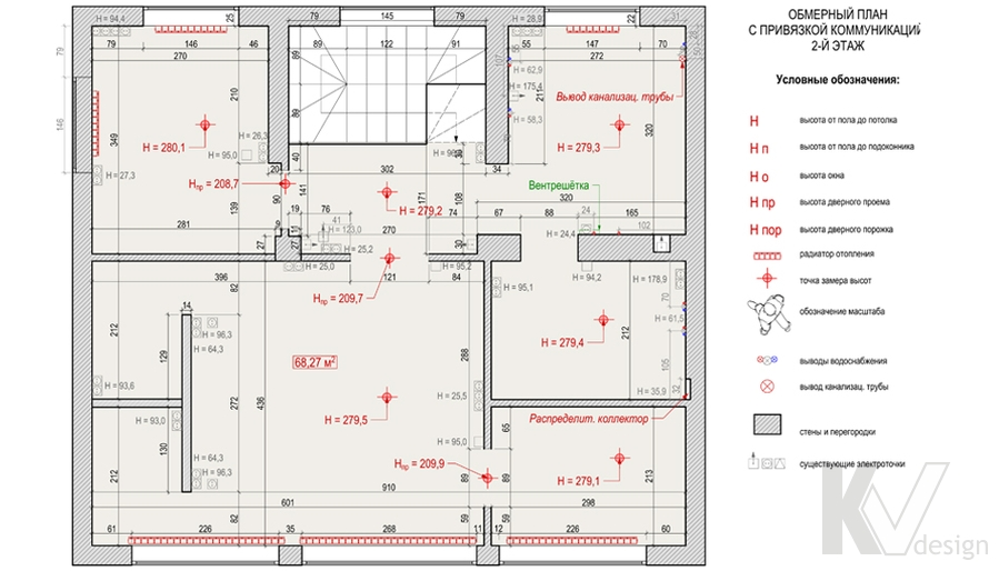 Планировка 2-го этажа в доме, деревня Федоровка