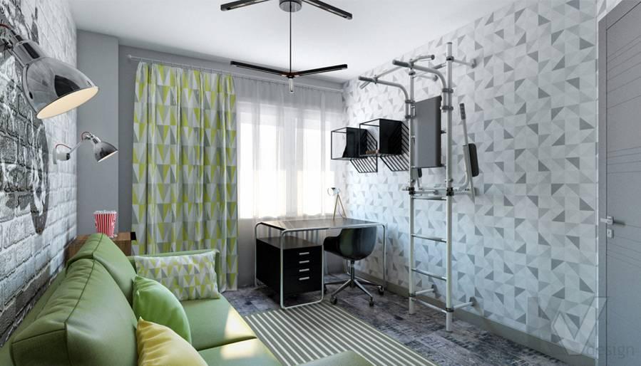 Комната мальчика в 2-комнатной квартире П-111М, Тропарево - 4