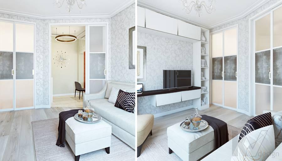Гостевая комната в двухкомнатной квартире, ЖК Виноградный - 3