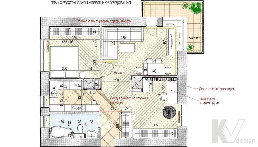 Перепланировка квартиры на Старом Арбате