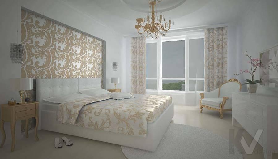 Дизайн трехкомнатной квартиры, ЖК Аэробус, спальня