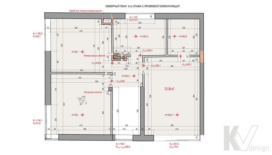 """Планировка в доме 2-го этажа,  КП """"Западная Долина"""""""