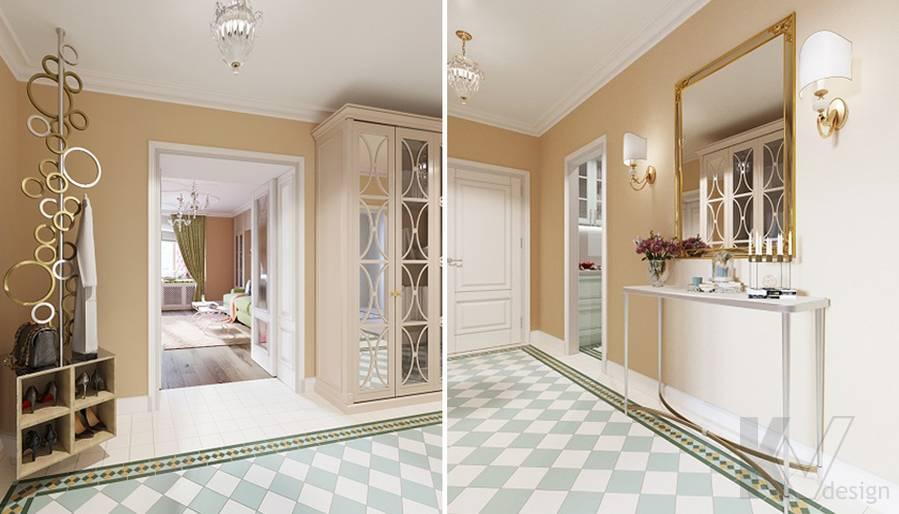 Дизайн прихожей в квартире на м. Смоленская - 2