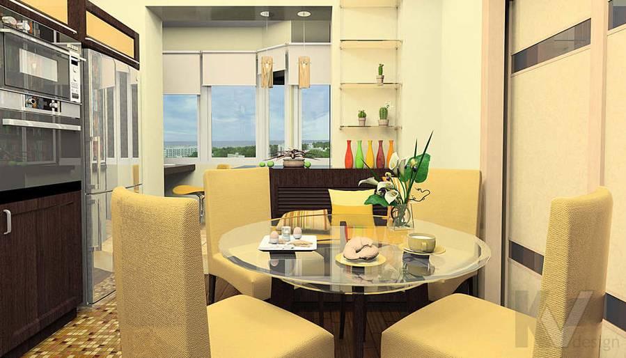 Дизайн квартиры И-155, кухня-1