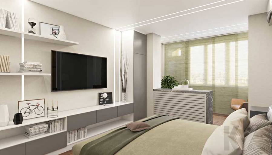Спальня в квартире П-44Т в г. Московский - 2