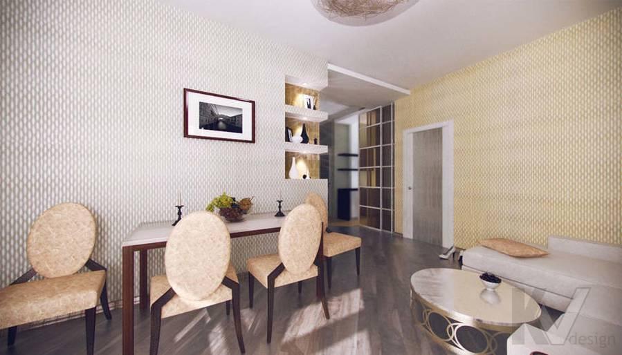 Дизайн квартиры на Старом Арбате, гостиная - 3