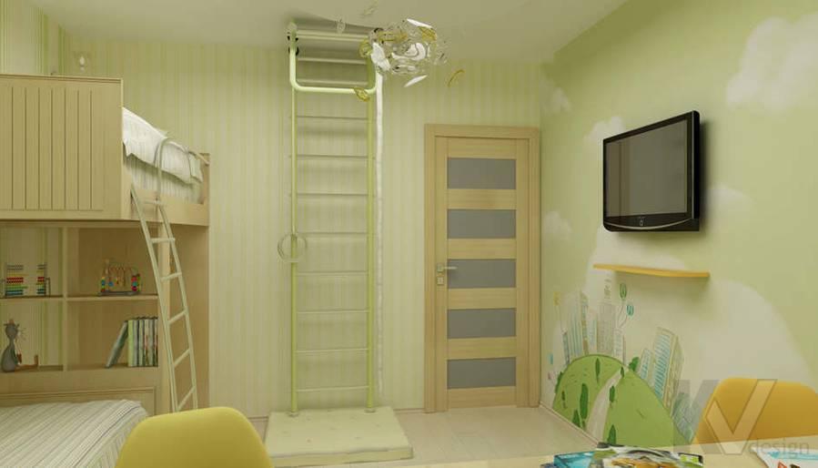 Дизайн детской комнаты в двухкомнатной квартире -3