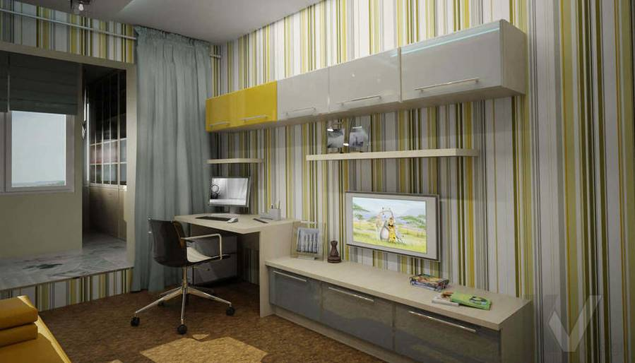 Дизайн квартиры П-3, детская-2
