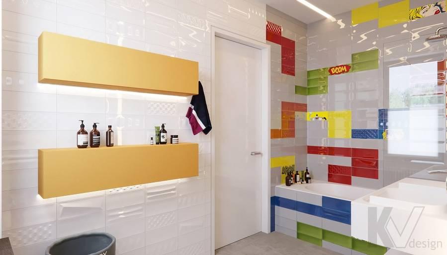 Детская ванная комната в доме в поселке Павлово - 3