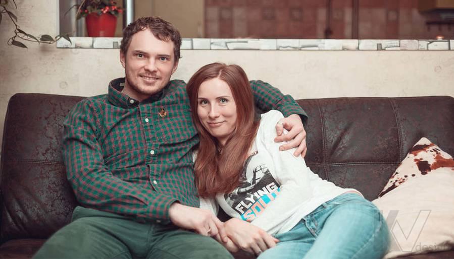 дизайн проект однокомнатной квартиры - фото семейной пары