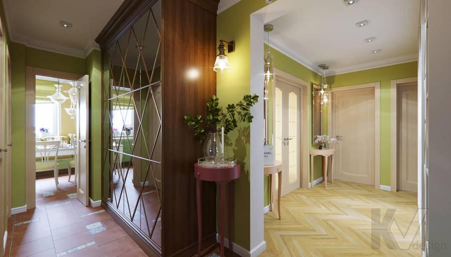 Дизайн прихожей в квартире серии П-3, Ясенево - 1