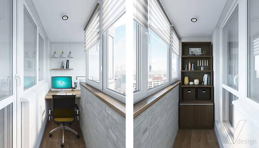 Дизайн лоджии в 2-комнатной квартире П-44Т, Московский