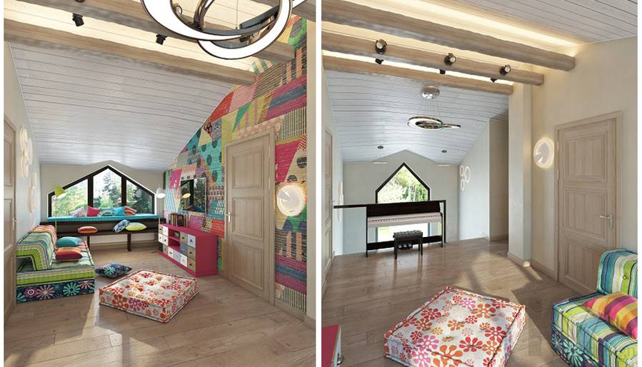 Дизайн игровой комнаты в трехэтажном доме - 2