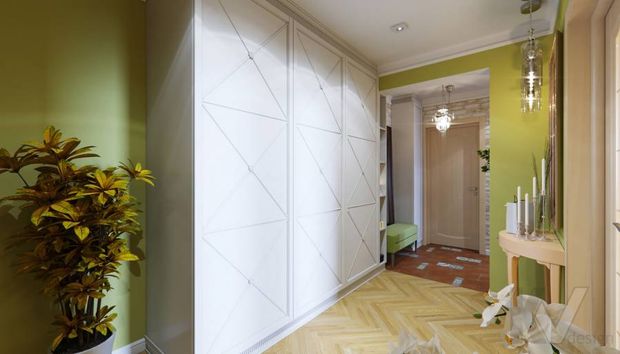 Дизайн прихожей в квартире серии П-3, Ясенево - 2