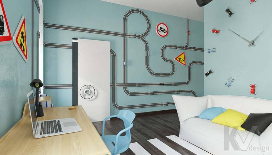 Дизайн комнаты мальчика в доме, КП Пестово - 9