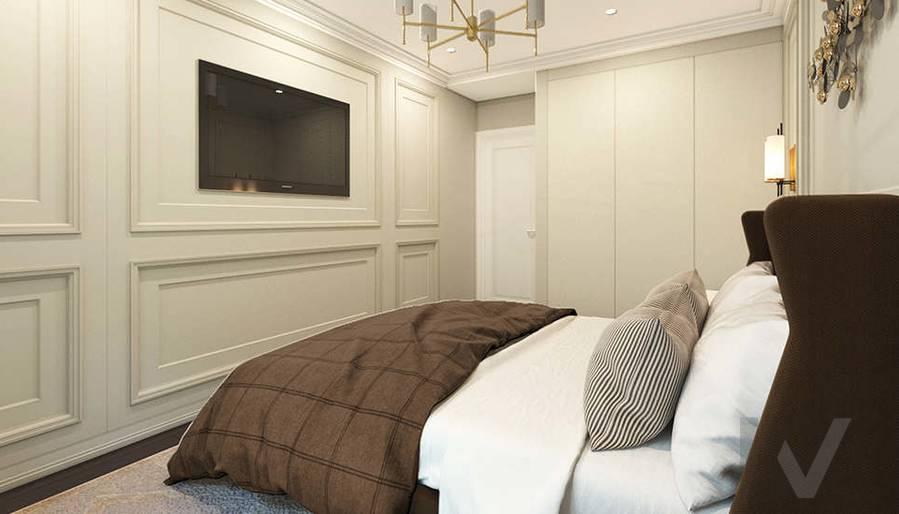 дизайн спальни в 3-комнатной квартире, Welton Park - 3