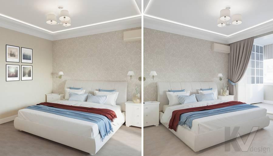 Дизайн спальни в квартире П-44Т, Переделкино Ближнее - 1