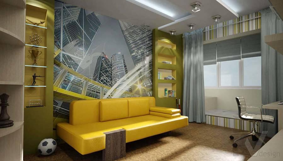 Дизайн квартиры П-3, детская-1