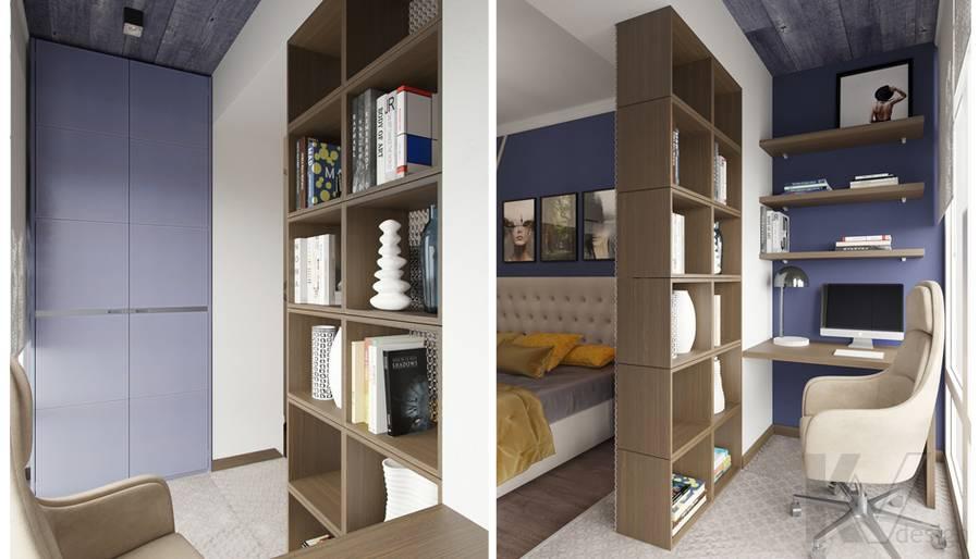 Дизайн спальни в ЖК «На Циолковского» - 4