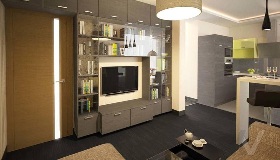 Дизайн гостиной в двухкомнатной квартире, Подольск - 2