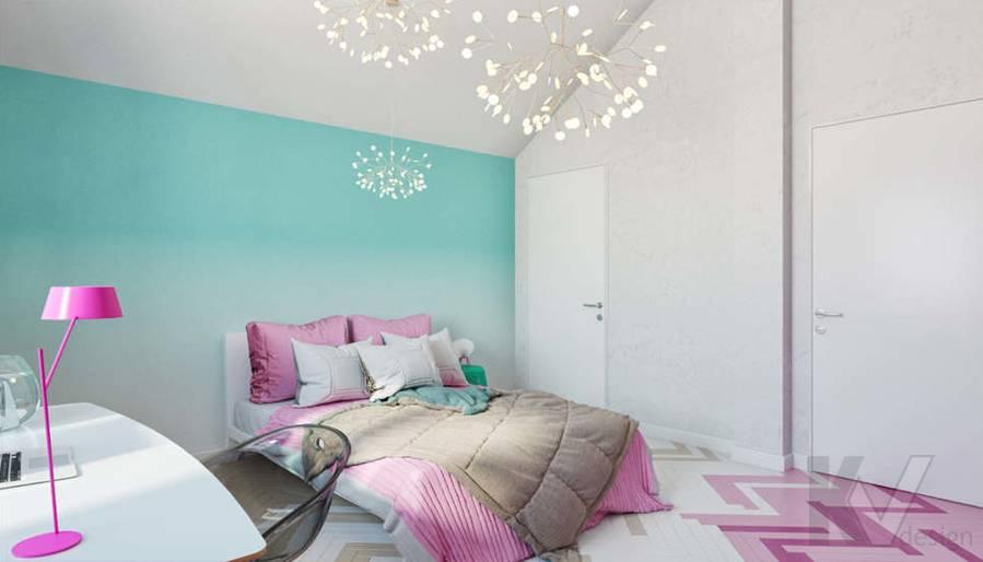 Дизайн комнаты девочки в доме, КП Пестово - 4