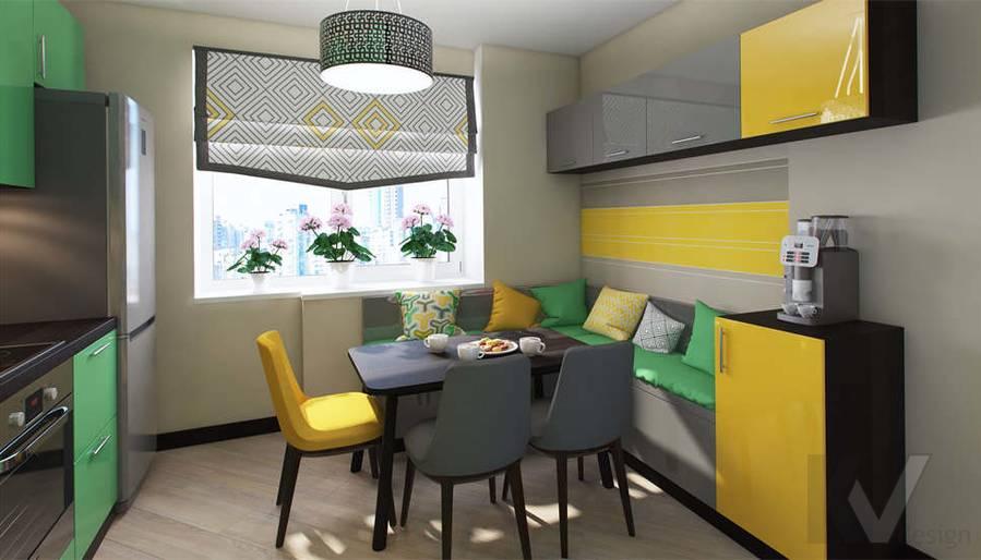 дизайн кухни в квартире П-3М, Владыкино - 2