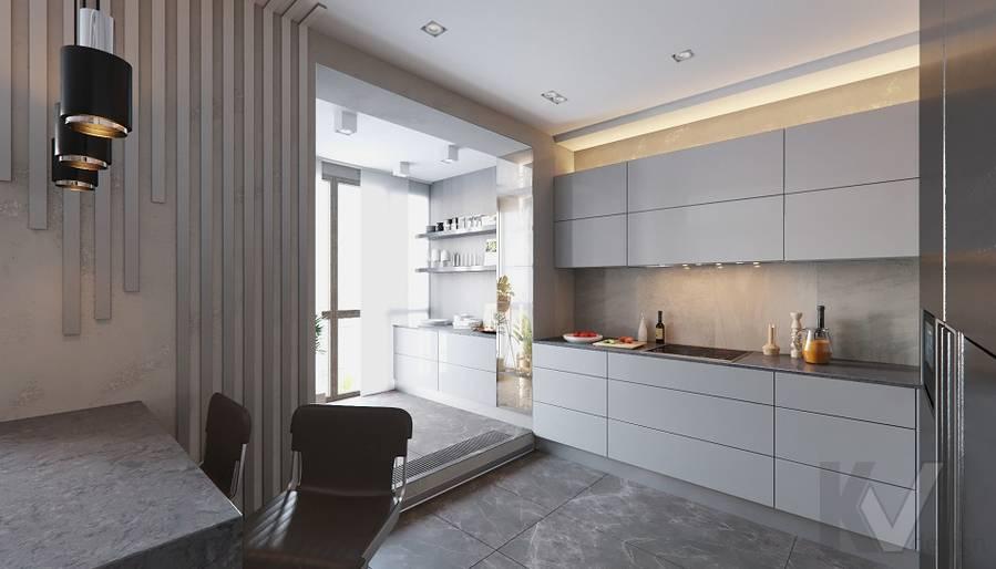 Кухня в проекте объединения квартир, Мытищи - 2