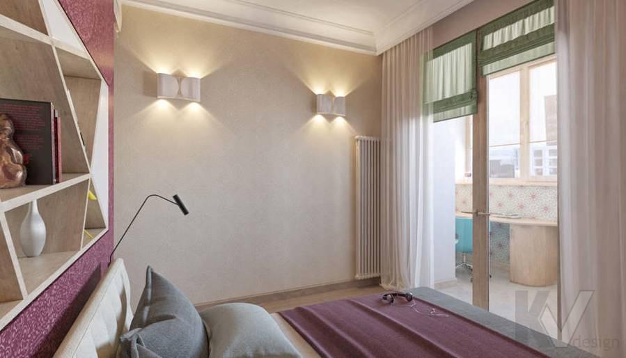 дизайн спальни в квартире на Мосфильмовской - 3