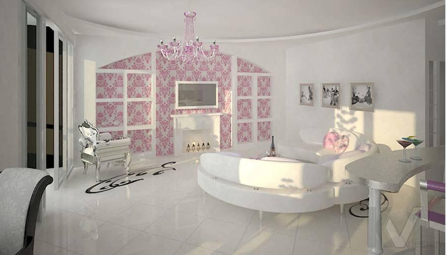 Дизайн трехкомнатной квартиры, ЖК Аэробус, гостиная-2