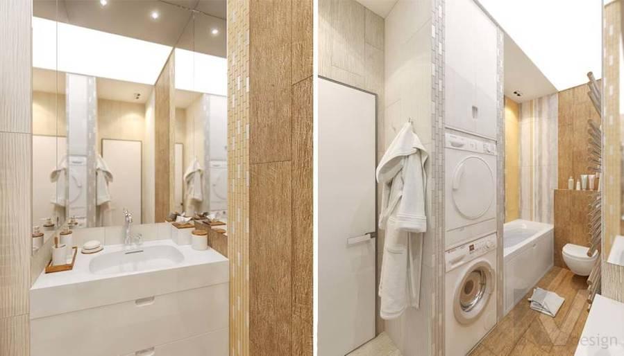 дизайн ванной в квартире на Мосфильмовской - 1