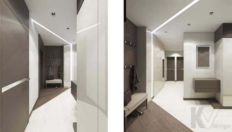 Дизайн прихожей в 3-комнатной квартире П-3М, Новое Ясенево - 3