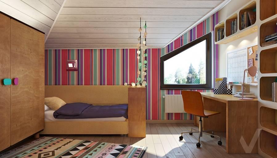 Дизайн детской младшей дочери в трехэтажном доме - 1