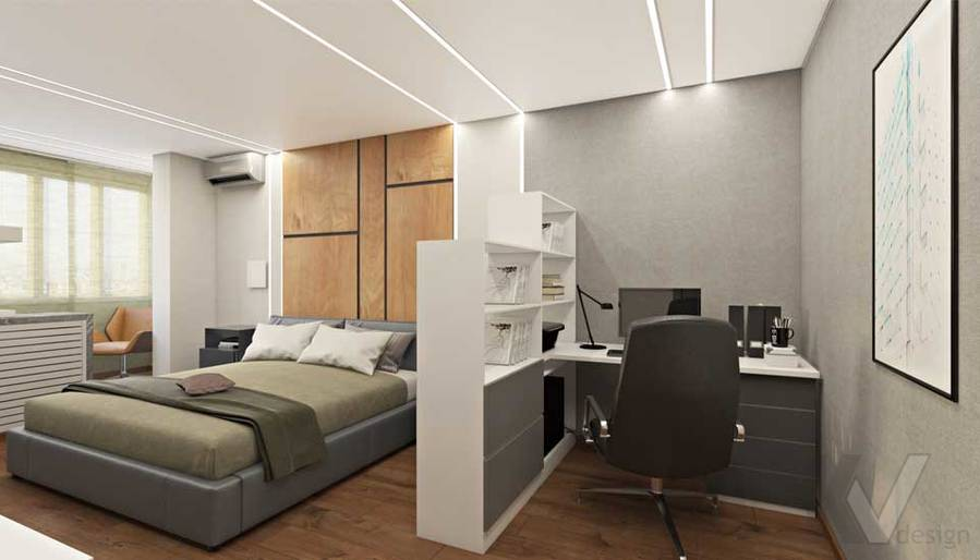 Спальня в квартире П-44Т в г. Московский - 1