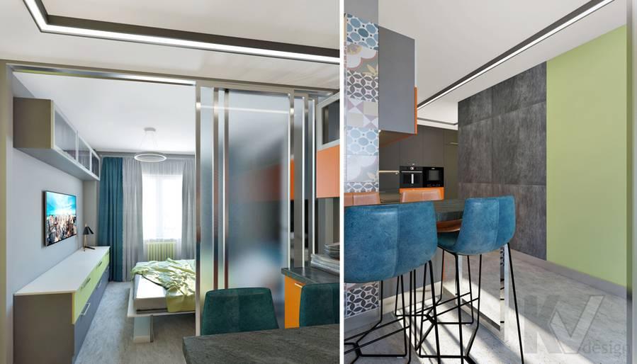 Кухня в 2-комнатной квартире П-111М, Тропарево - 2