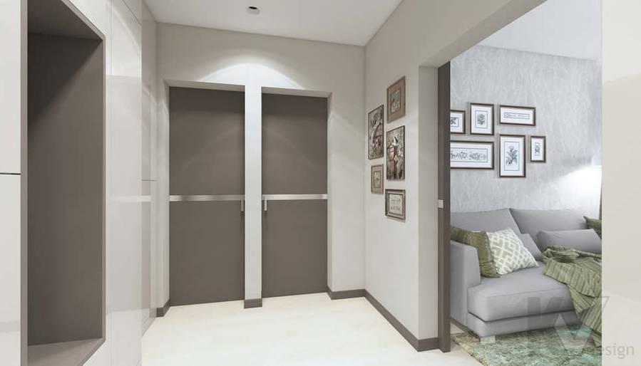 Дизайн прихожей в 3-комнатной квартире П-3М, Новое Ясенево - 6