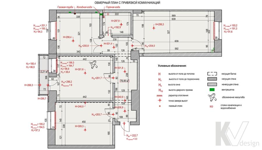 Планировка в 3-комнатной сталинке, ВДНХ