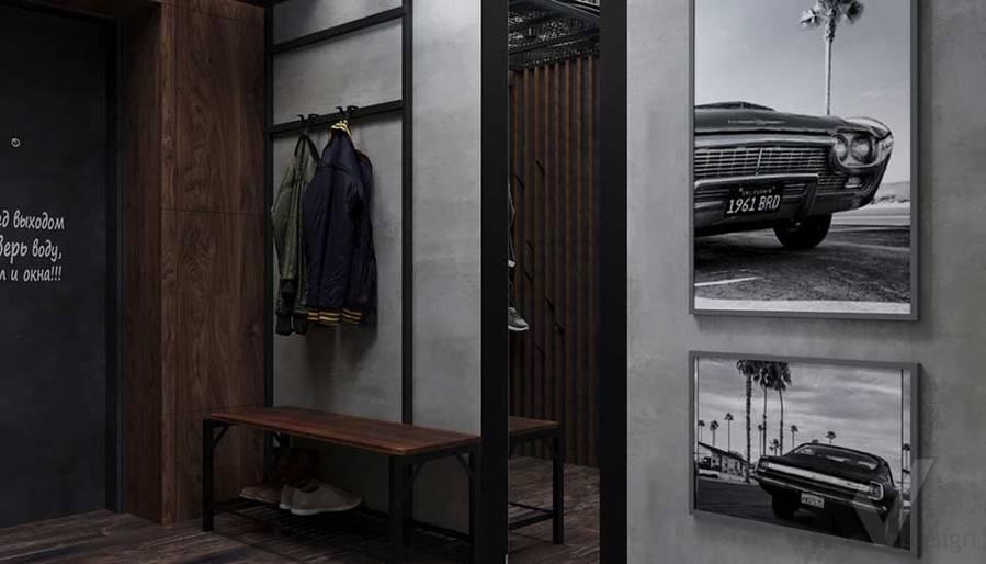 Дизайн прихожей в квартире П-44, м. Кузьминки - 1