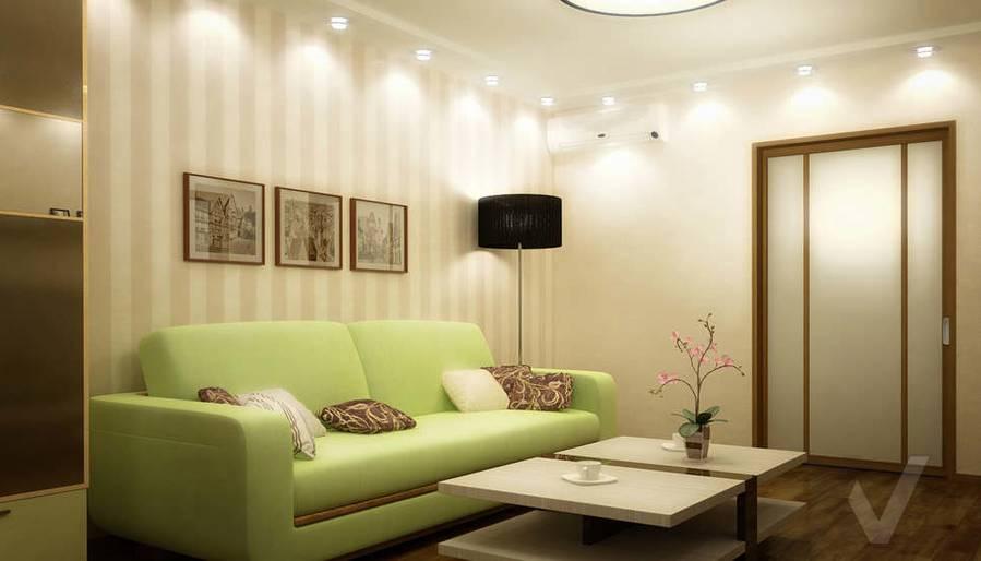 Дизайн двухкомнатной квартиры, Развилка, гостиная - 3