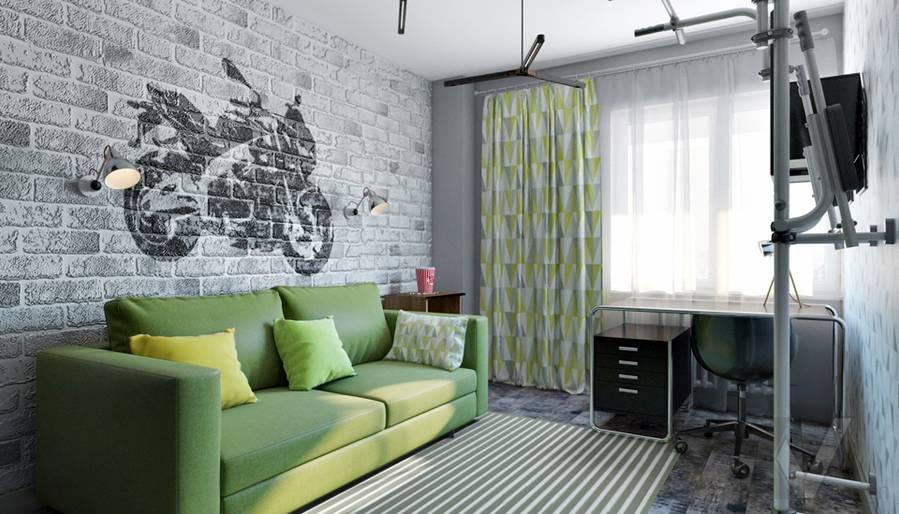 Комната мальчика в 2-комнатной квартире П-111М, Тропарево - 1