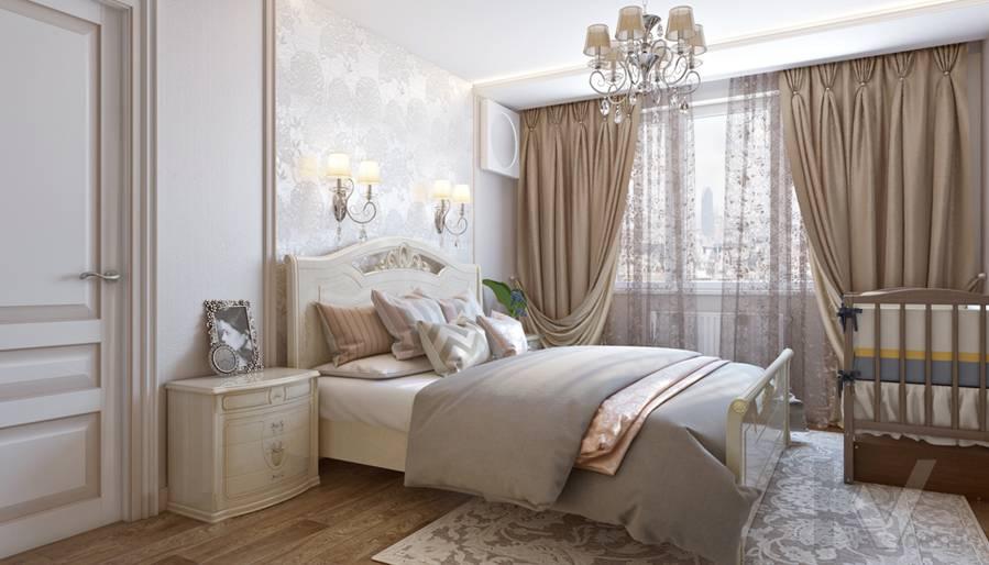 Спальня в 3-комнатной квартире П-44Т, Люблино - 2