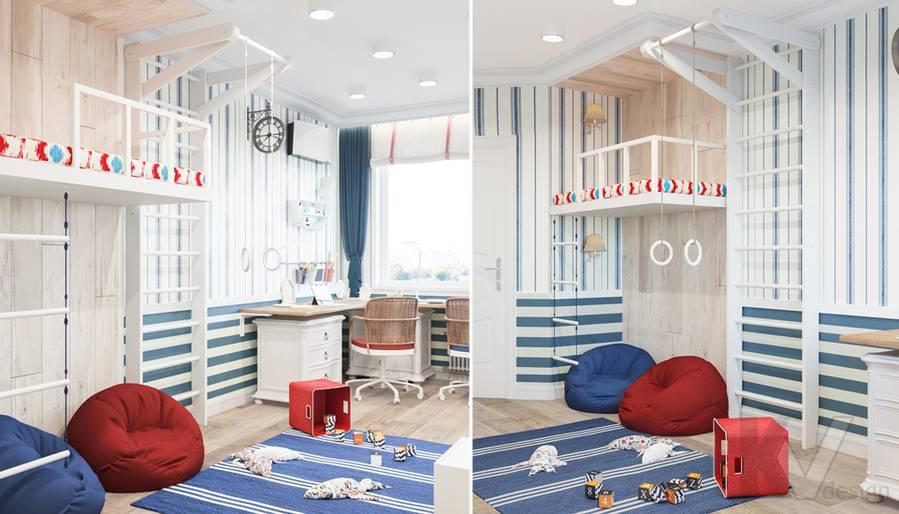 Финальный вариант детской в квартире на Ленинском проспекте - 1