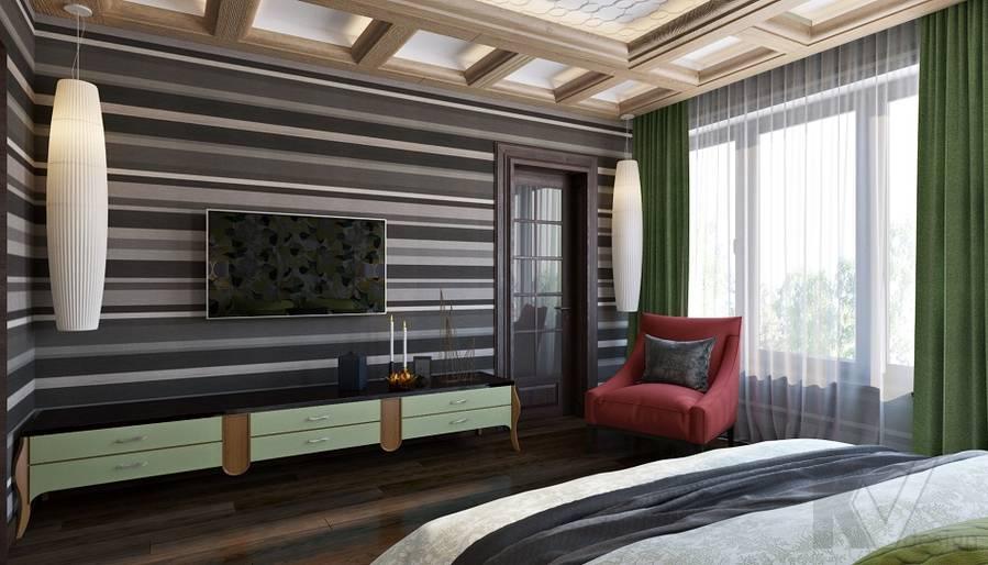 Дизайн спальни в трехэтажном доме - 3