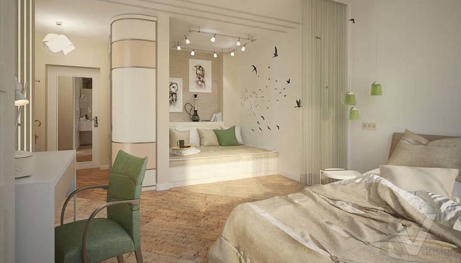 Дизайн квартиры-студии, Коломенская - 1