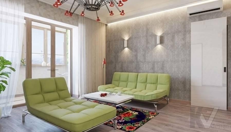 дизайн гостиной, квартира на Мосфильмовской - 2