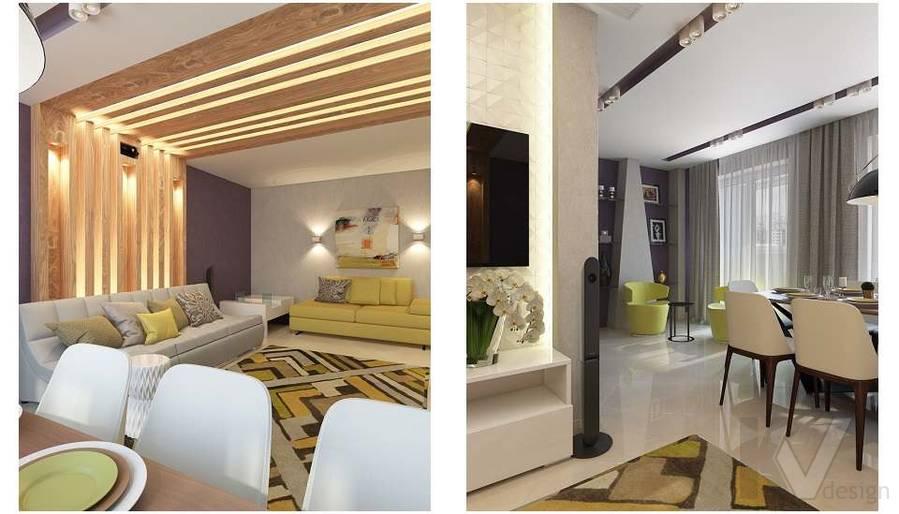 Дизайн гостиной в 2-комнатной квартире в Мытищах - 6